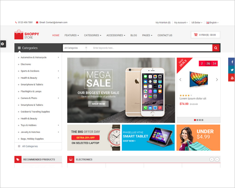 Download Selling Website PSD Template