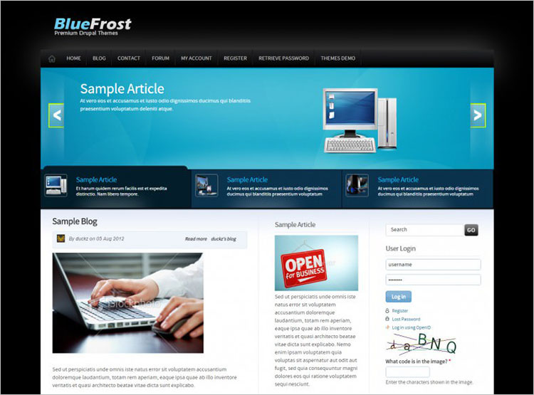 Drag & Drop Free Drupal templates