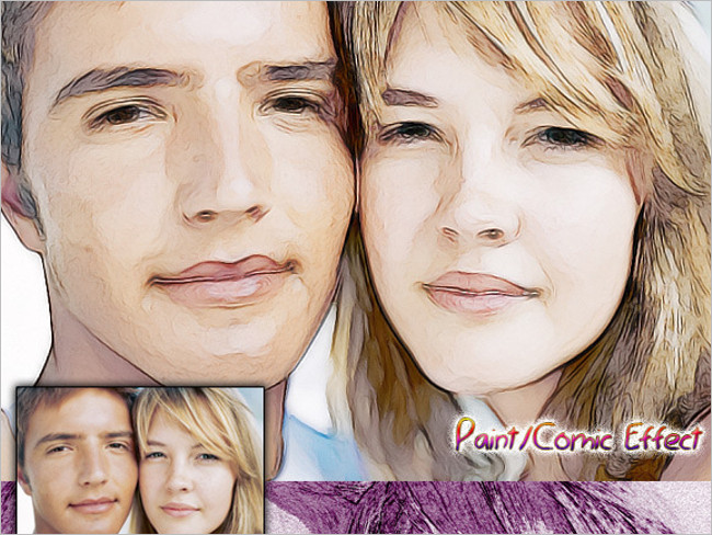 Draw Comic Effect Photoshop Action Design