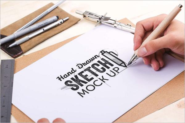 Drawing Pen Mockup