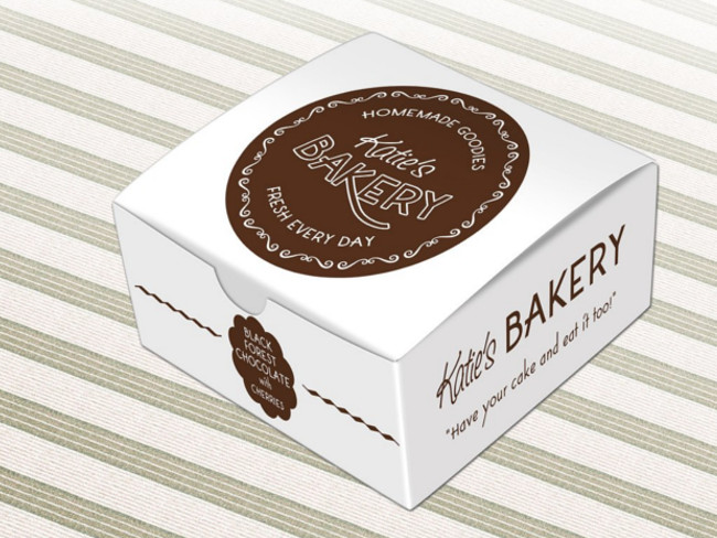 Editable Cake Box Mock Up Quick View PSD