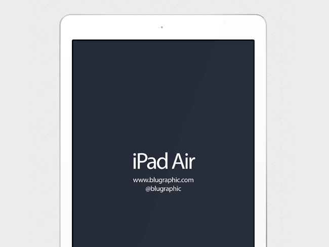 Editable iPad Air Mockup Free PSD