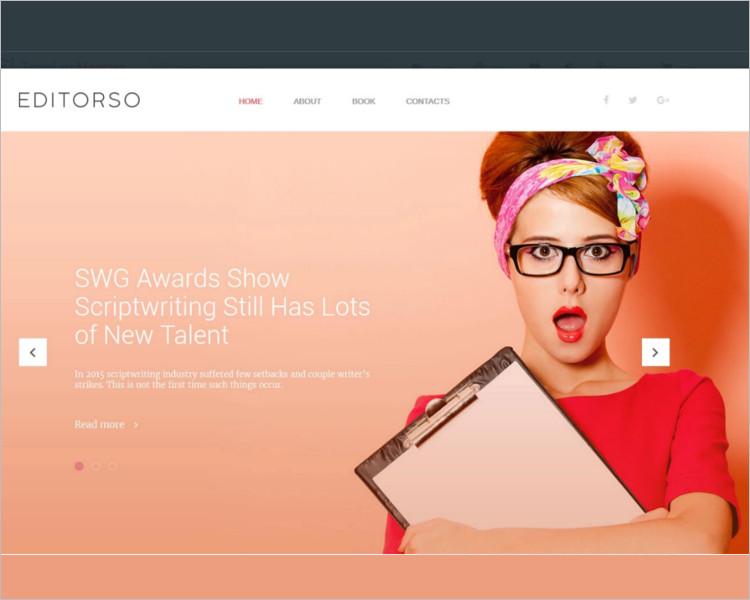 Editor Boostrap Website Template