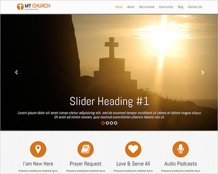 Elegant Church Bootstrap Template