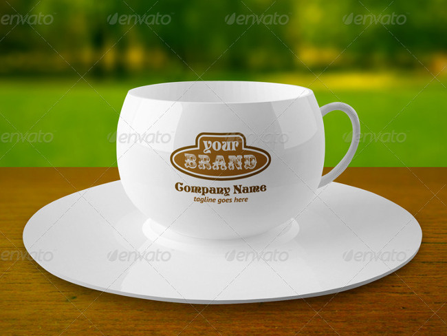 Elegant Coffee Cup PSD Mock-up