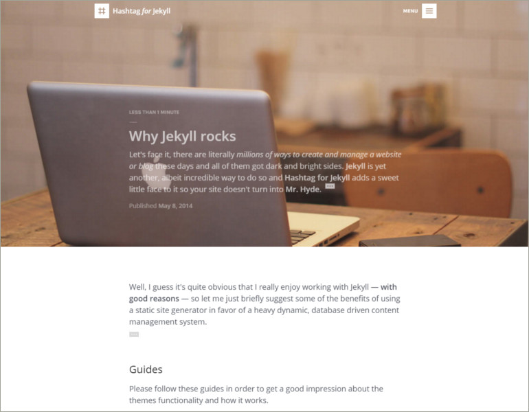 Elegant Jkyll Blog Theme