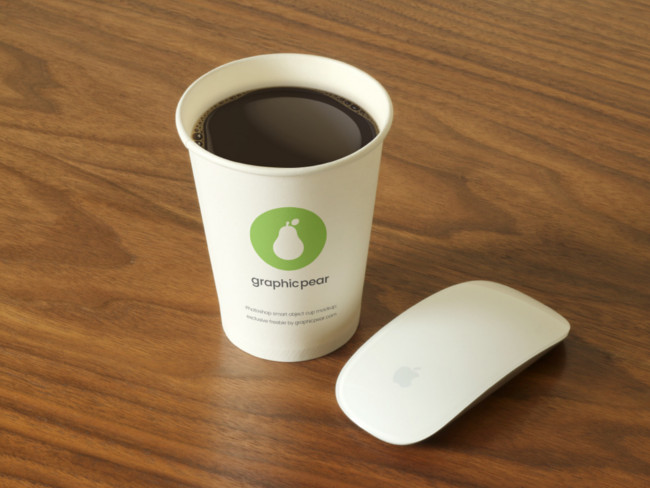 Elegant Look Disposal Coffee Cup Mockup