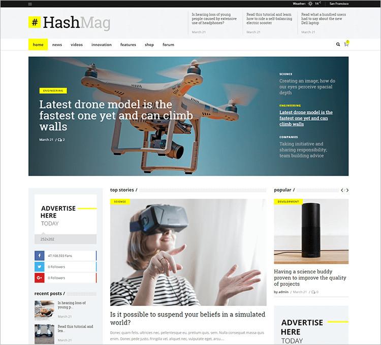 Elegant Magazine WordPress Themes