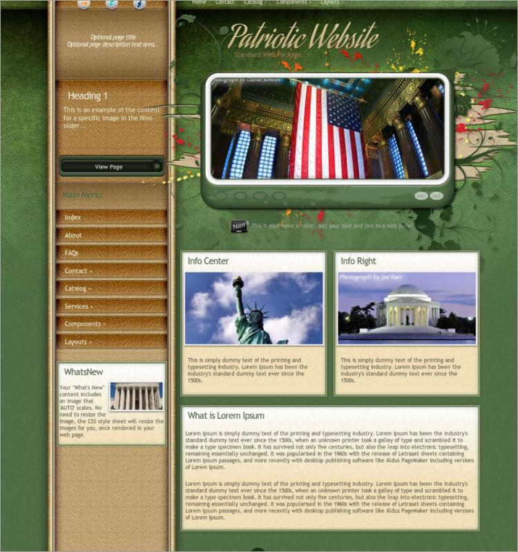 Elegant Patriotic WordPress Theme