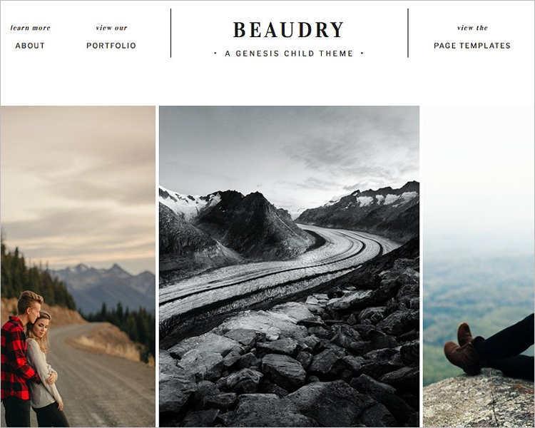 Elegant Photography WordPress Template
