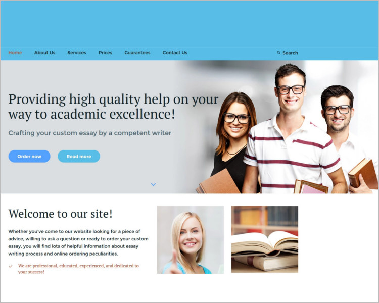 Essay writing Bootstrap Template