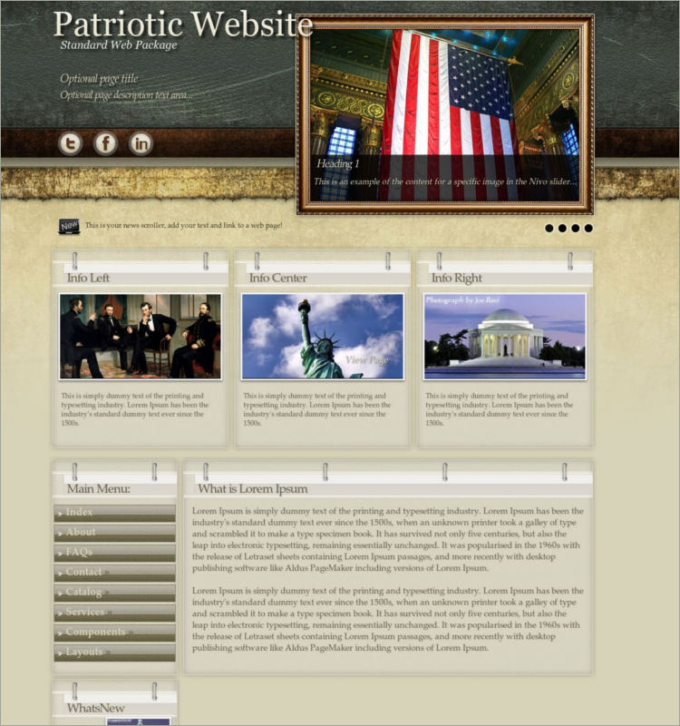 Evolution Patriotic WordPress Theme