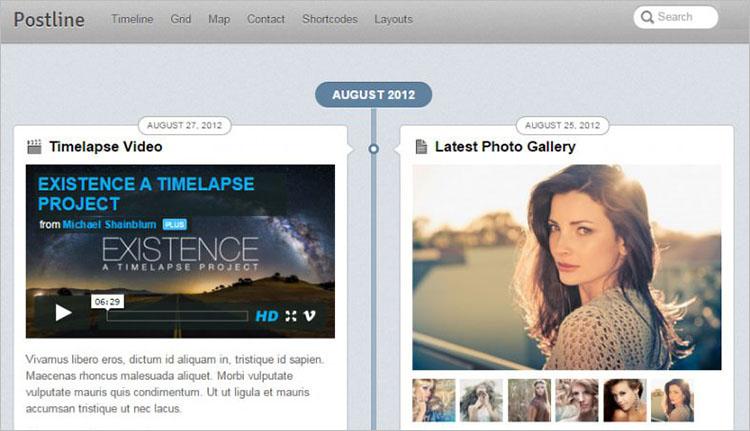 Facebook Style Post WordPress Templates