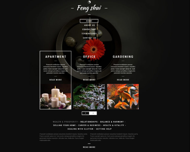 Feng Shui Responsive Website Theme