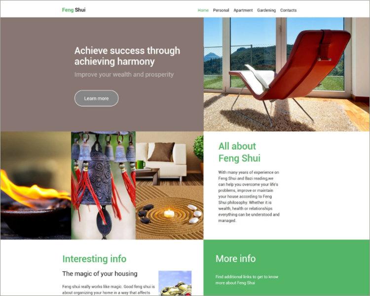 Feng Shui Website Template