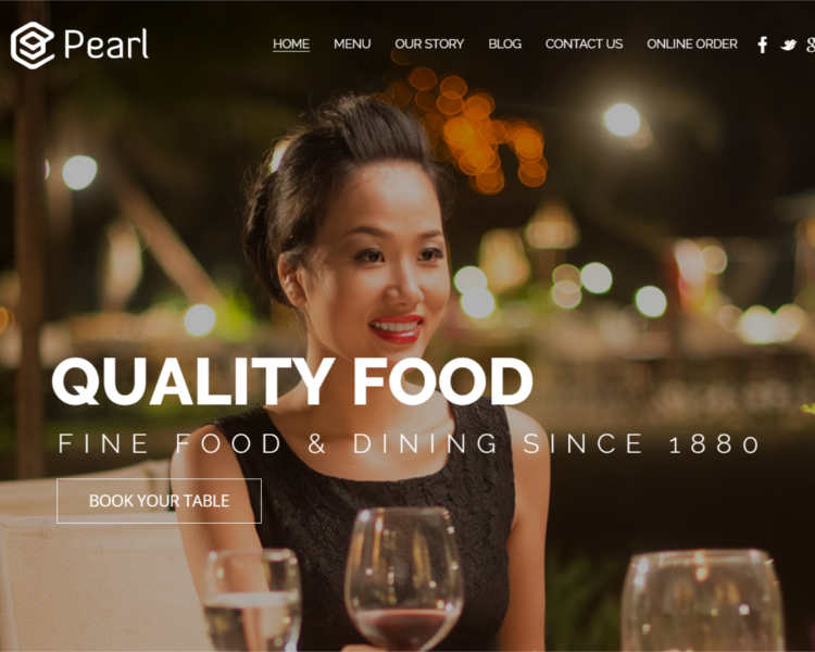 Fine Food Resttaurant WordPress template