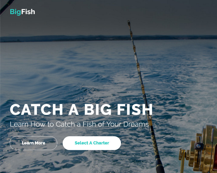 Fishing Bootstrap Website Template