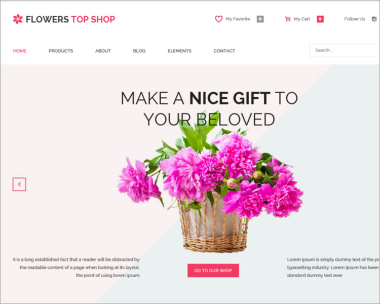 Flowers and Boutique WordPress Theme