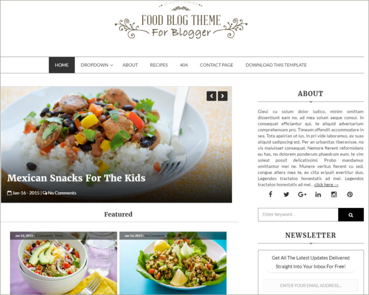 Food Blogger Template