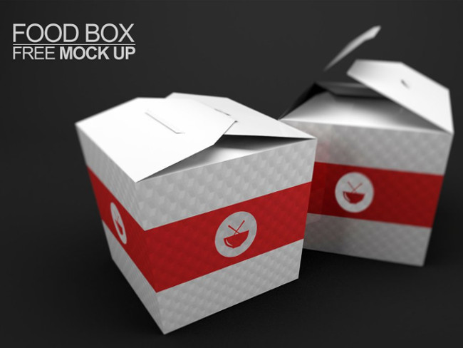 Food Box Free PSD Mockups