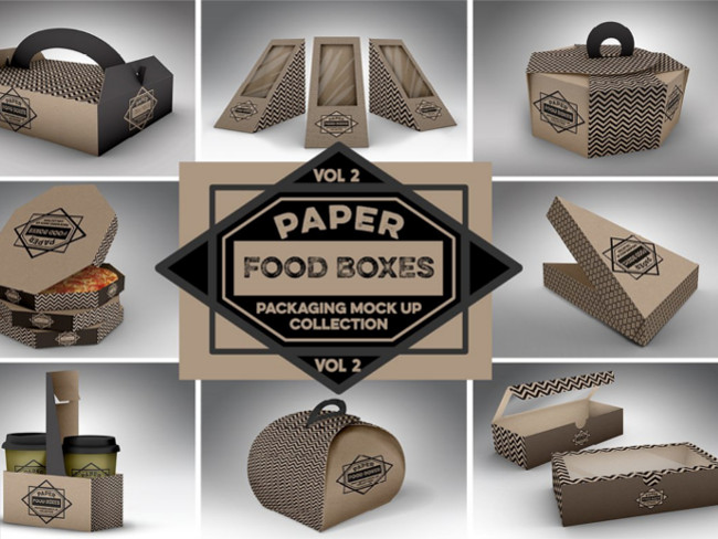 Food Box Packaging MockUps