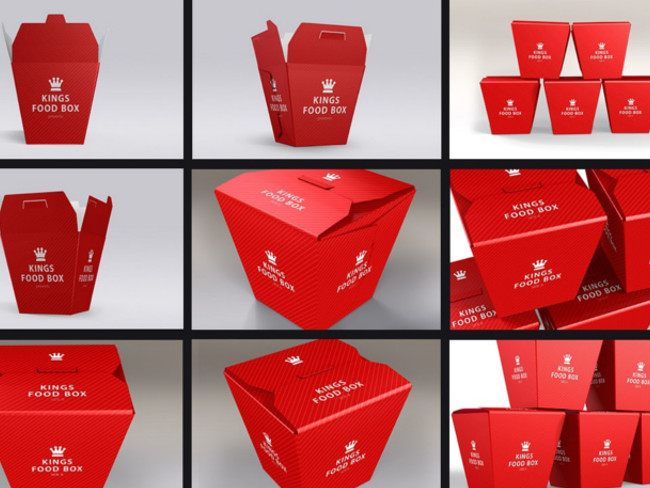 Food Boxes Bundle Mock-up Template