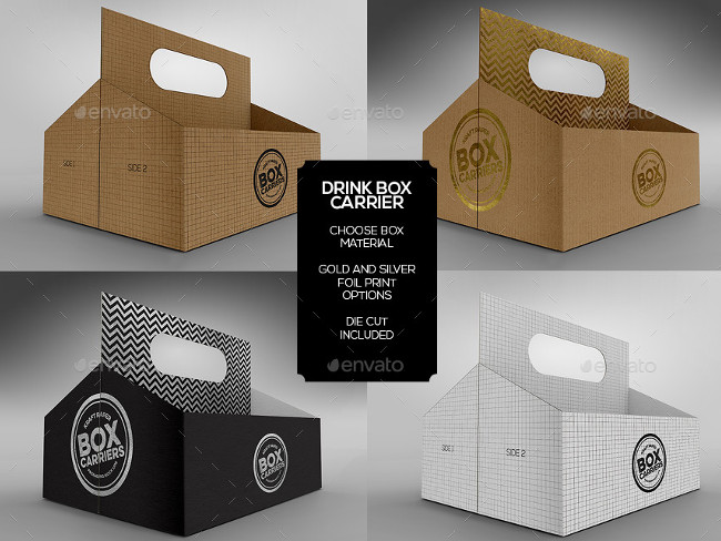 Food Pastry Boxes mock up