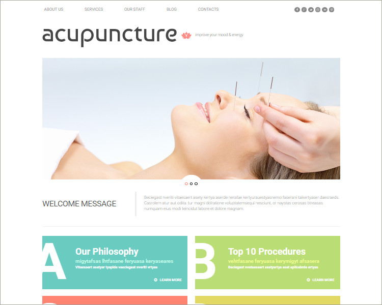 Free Acupuncture WordPress Theme