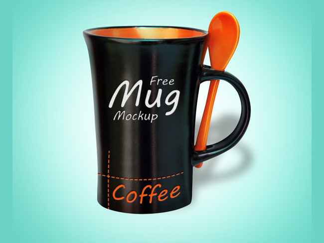 Free Black Mug Mock-up PSD