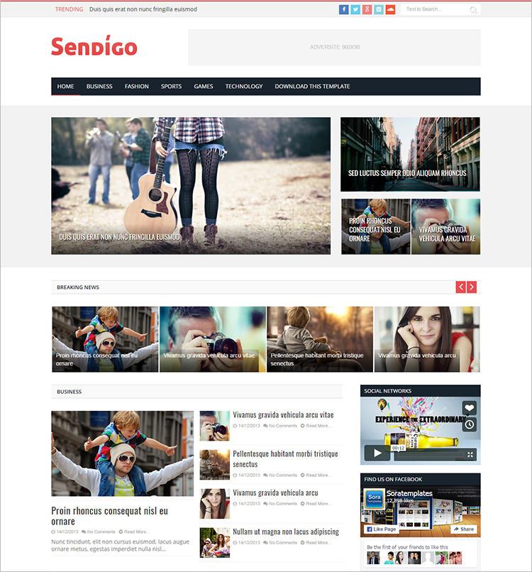 Free Blog Website Templates Download