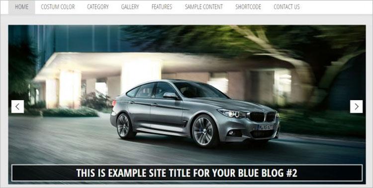 Free Blue Blogger Templates