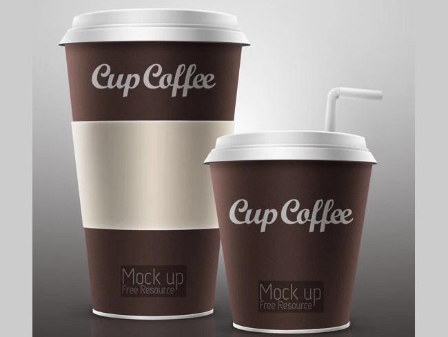 Free Elegant Coffee Cup Mockup PSD