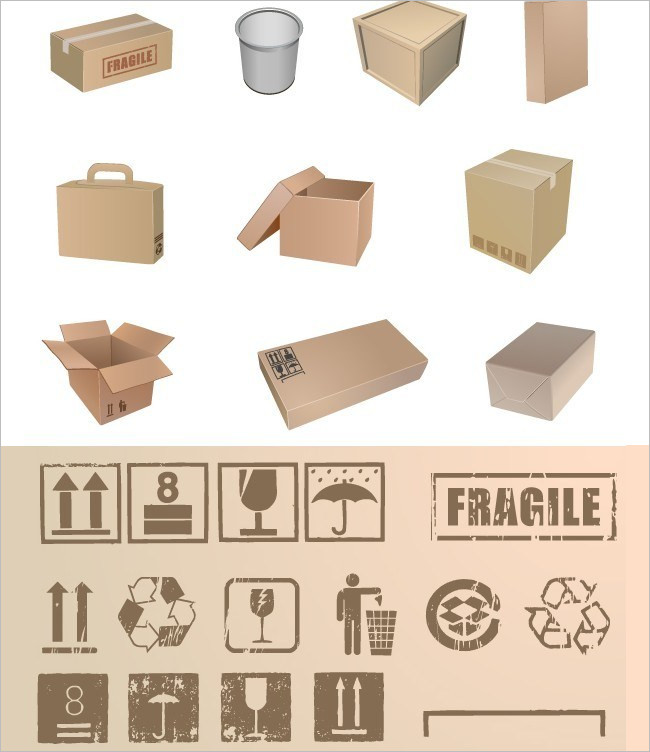 Free Food Packaging Vector Box Mockups