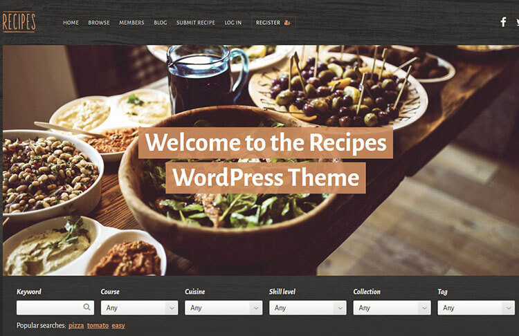 Free & Premium Food & Recipe Blog Templates