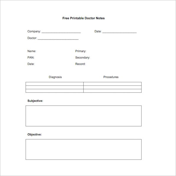 Free Printable Doctor Note Template