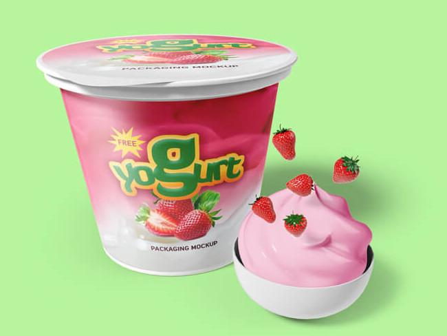Free Yogurt cup Packaging Mockups