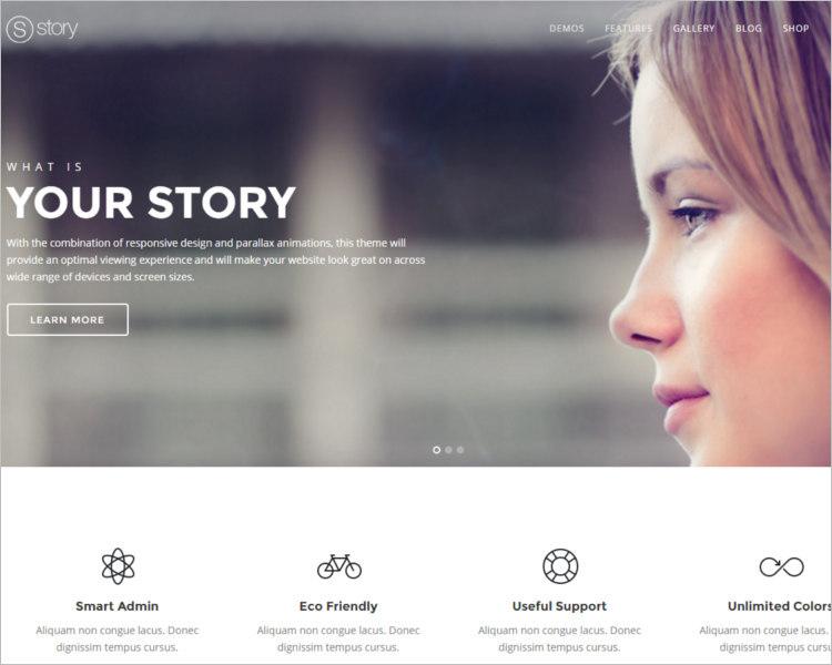 Full Screen WordPress Template