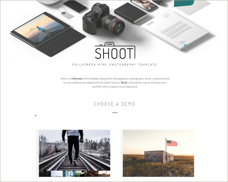 Fullscreen Photography HTML Template