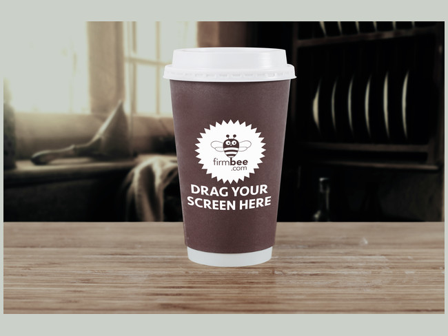 Fully Editable Cup of Coffee Mockup