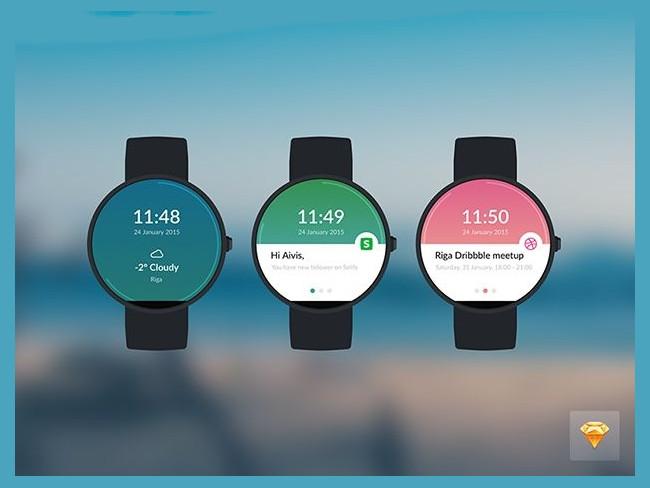 Fully Layered PSD Freebie Moto 360 Watch