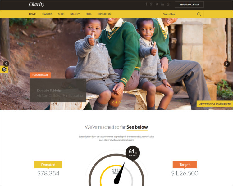 Fundraising Church Bootstrap Template