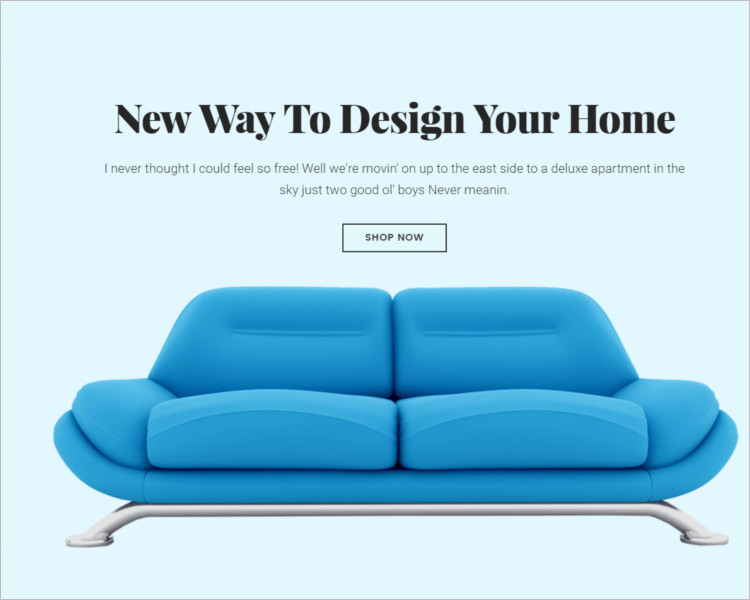 Furnature Bootstrap Seating Template
