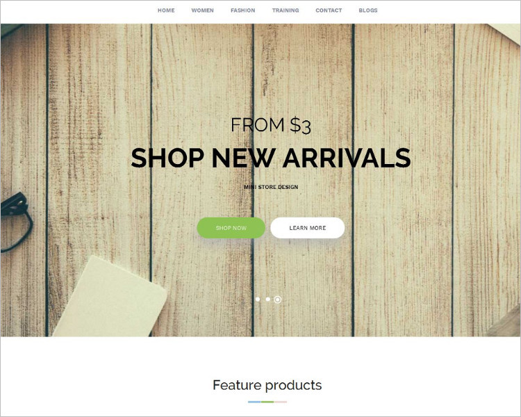 Furniture Bootstrap Idea Template