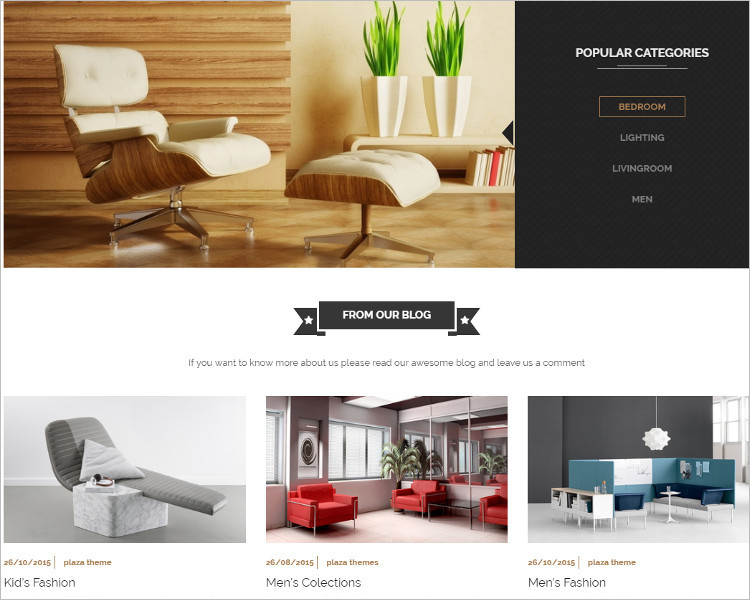 Furniture For Bootstrap Template