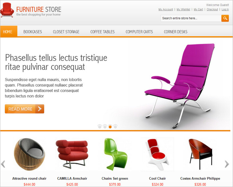 Furniture Mart Bootstrap Templte