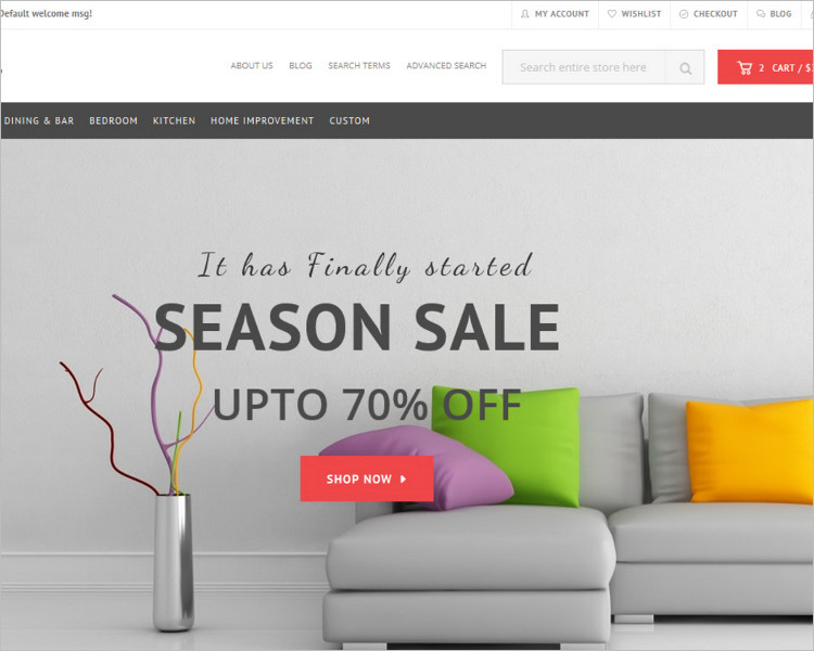 Furniture Store Boostrape Template