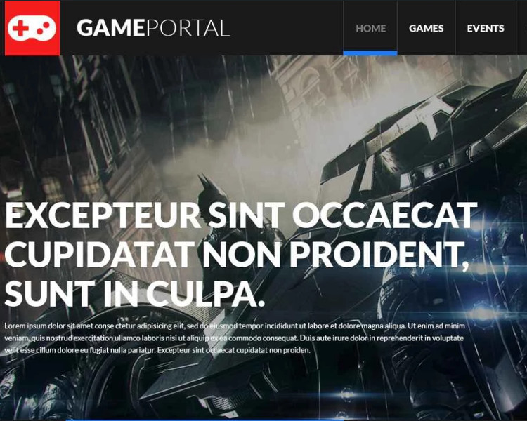 Gamming board Bootstrap Template
