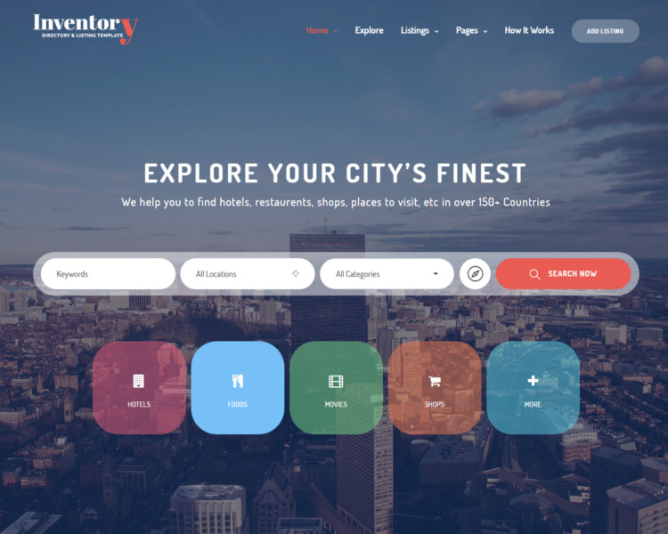 Geolocation listing website template
