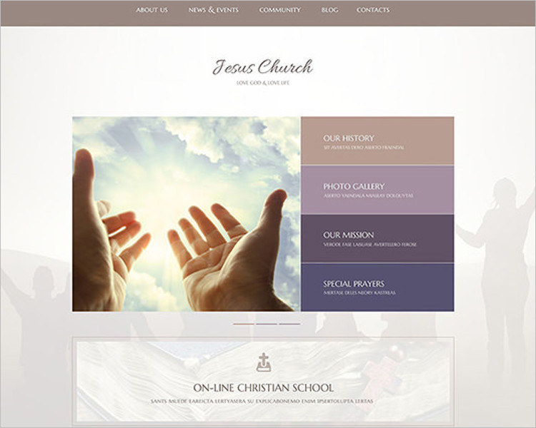 Gorgeous Church Bootstrap Template
