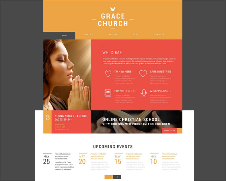 Grace Church Bootstrap Template